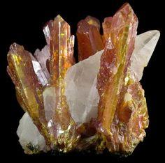 Orpiment in Calcite / Shimen Mine, Hunan, China
