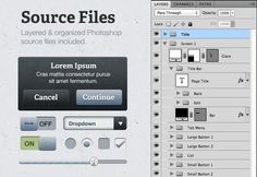 Common UI elements Photoshop: Surface iPhone UI Kit 4 thx @MediaLoot