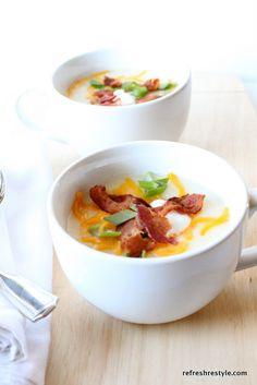 Super Easy Potato Soup #recipe