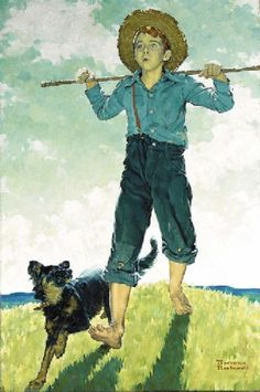 Boy And Dog ~ Norman Rockwell