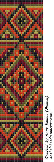 Схема широкого браслета - станочное ткачество / гобеленовое плетение