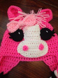 Pink Purple Little Pony Horse Crochet Hat Child Crochet Hat Baby Crochet Hat on Etsy, $25.00