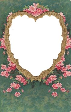 Wings Of Whimsy: Gilded Heart Frame PNG file (transparent background) - free for personal use