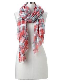 Americana plaid scarf