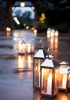 Lantern Lighting up the Walkway {photo by: Christian Oth}