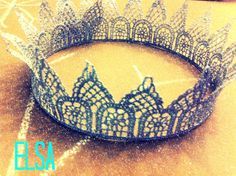 ELSA silver LACE crown inspired by the by peppermintandswish, $27.00