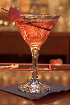 Lust Martini    (2 oz Stolichnaya Strawberry    1 oz Strawberry Liquor    1 oz Cointreau    1/2 Lemon Squeezed    2 oz Champagne) um yum!
