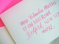 in pink! #type #caligraphy