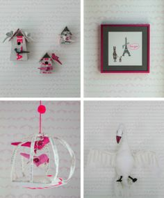 Sissy and Marley modern pink nursery Details. Photos by Marco Ricca