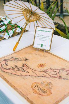 Bermuda map as guest book at our Bermuda Wedding Map Wedding Guest Book