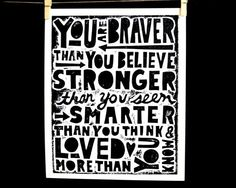 I've loved lulubugjewelry ever since my husband bought my first owl necklace.     Inspirational quote necklace  You are braver by lulubugjewelry, $62.00
