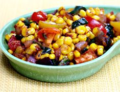 Spicy corn with poblano peppers {vegan, gluten-free} - The Perfect Pantry®