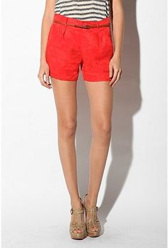 dante shorts in bright red