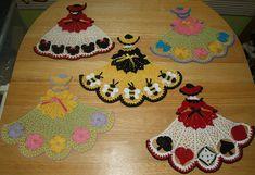5 Crochet Doily Girl Pattern Lot 4 by vjf25 on Etsy, $6.95
