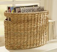 Samantha Seagrass Baskets ~ Oval Magazine Basket
