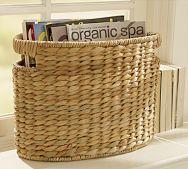 Samantha Seagrass Baskets ~ Oval Magazine Basket