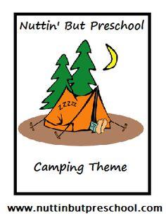 » Camping Lesson Plan Nuttin' But Preschool classroom, preschool camping theme, camp theme, camping lesson ideas, lesson plan, camping school activities, preschools, juli theme, preschool 4th