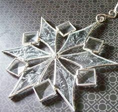 Stained Glass Snowflake with Bevels by ShadyGroveStudios on Etsy, $25.00