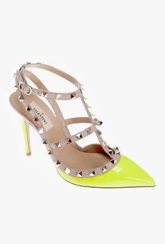 Neon Studded Pumps