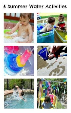 6 Summer Water Activities from The Kids Co-Op at B-InspiredMama.com #kids #kbn #summer