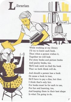 Vintage librarian poem awesomeness.