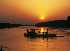 Sunset in Kopački rit