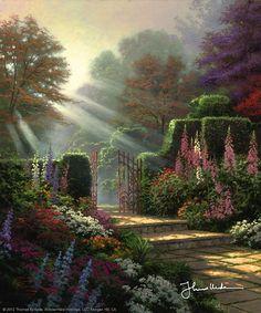 Thomas Kinkade - Garden of Grace  2004