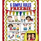 "AVAILABLE IN ENGLISH  SPANISH Help students take ownership of the classroom rules this year with these ""6 Simple Rules"" designed with simple i..."