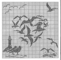 borduren, galleryru, elisa tortonesi, crossstitch, crochet, broderi, beach, cross stitches, filet