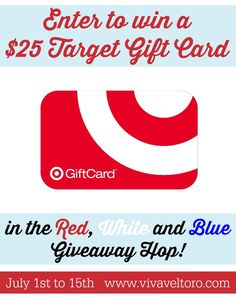 Win a $25 Target Gift Card, sponsored by me!  Easy entries too!