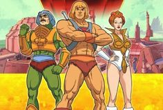 He-man, Teela, Man-At-Arms