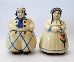 DUTCH BOY AND DUTCH GIRL - Cookie jars by Shawnee.