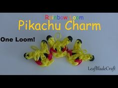 How To Rainbow Loom Pikachu Charm DIY Pokemon Charm_ONE LOOM_ #leafbladecrafts