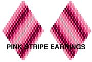 PINK STRIPE EARRINGS Pattern by Suzanne Cooper at Bead-Patterns.com