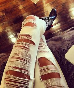 Cute Ripped Jeans <33