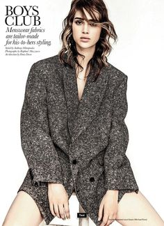 anais pouliot by raphael mazzucco for elle canada september 2013, balayage, #highlights on dark hair