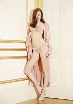 perfect pink lingerie set and kimono