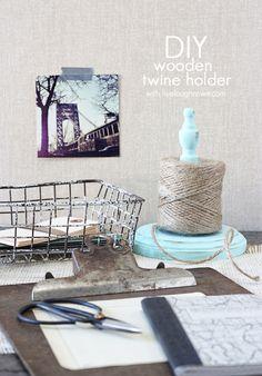 DIY Wooden Twine Holder