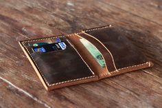 Leather Wallet  Men's Wallet  Women's Wallet  Slim by JooJoobs, $32.00