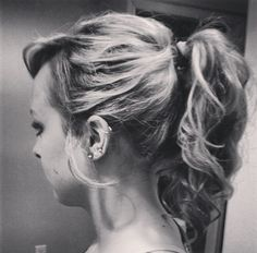 Simple high ponytail updo
