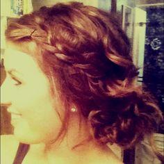 Got creative with the hair today! #messybun #braid #hair