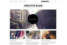 Creative Blog WordPress Responsive by dessignnet on Creative Market