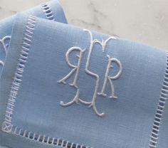 Mirrored Monogram - unique design, and soft color combination - Julia B.