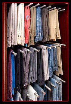 Master closet....pants hangers.