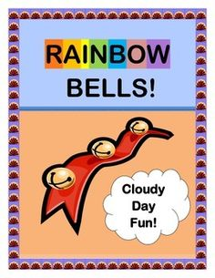 "Play ""RAINBOW BELLS""!  Bring a bright GROUP GAME and SONG to a cloudy day!  Kids make their own BELL SHAKER CRAFTS with pipe cleaners in 'rainbow' colors.  Get ready to move around your room for a funny COLOR GAME!  Easy SONG DIRECTIONS are included-- no music skills needed.  Pipe cleaners and a bag of jingle bells are all you need to make COLORFUL music!  (6 pages)  From Joyful Noises Express TpT!  $"
