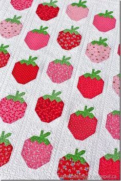 Strawberry Social quilt