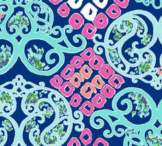 Lilly Pulitzer Bright Navy Behind The Gate. Spring 2014