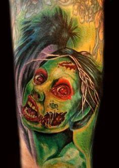 total tat, tattoos, thankszombi awesom, zombi tattoo, tattoo iii, 80s tattoo, zombies, ink