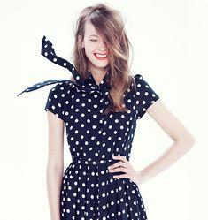 Polka dot dress! http://cococozy.com