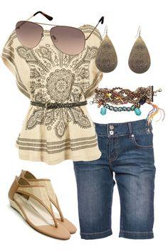 Dressed Up Denim. Cute top!